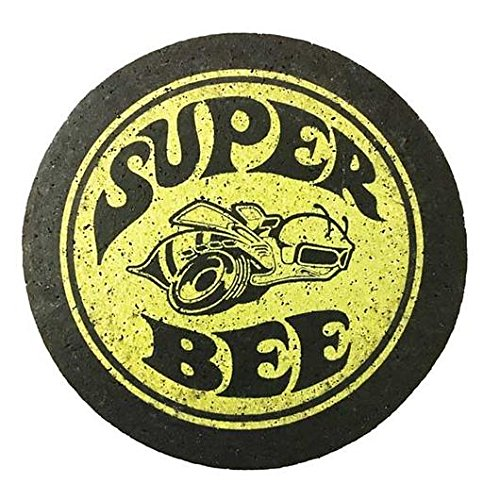Chrysler Dodge Super Bee Cocktail Coaster Set made from Recycled Tires