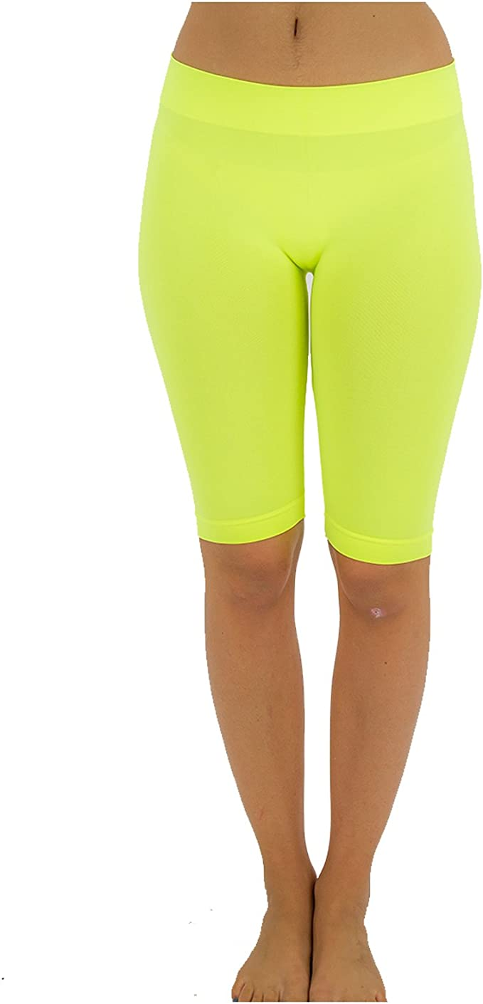Women Yoga Pants Bermuda Shorts High Waist Push Up Biker Leggings Sports Gym Y90
