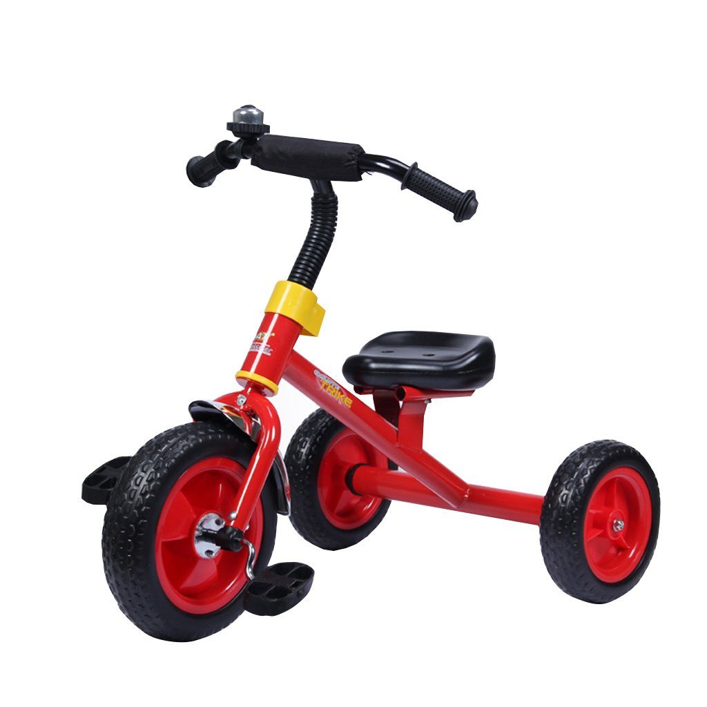 子供のマルチカラー三輪車のバイク1-5男性と女性の赤ちゃんの子供の足の衝撃吸収材の自転車のベビーカー (色 : 赤) B07F2GGRBF 赤 赤