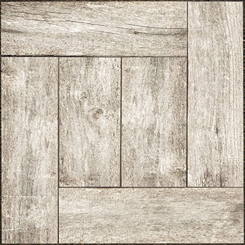 "Adorn FLRA-12N021-06 Adhesive Decorative and Removable Vinyl Floor, Wood Palette, Set of 6-12""x12"" Tiles"