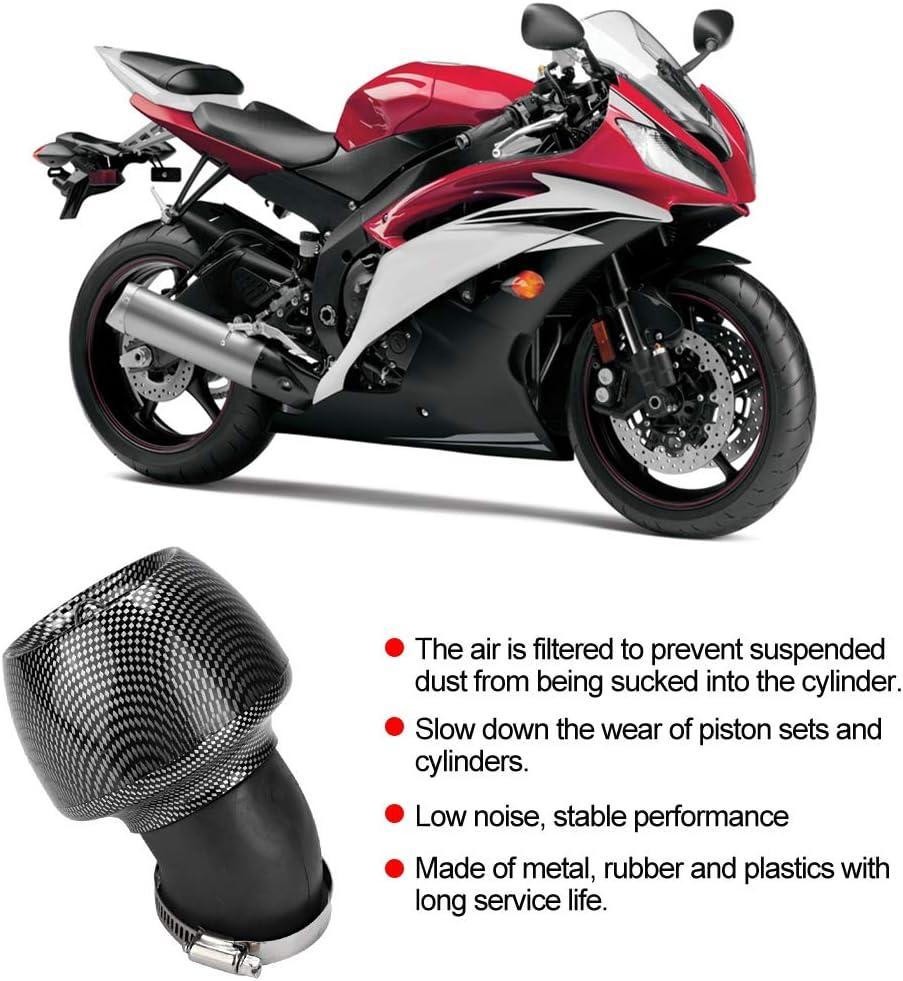 Filtro aria moto Filtro di aspirazione Filtro aria universale per moto Filtro aria in fibra di carbonio Texture Scooter moto ATV Dirt Bike Filtro aria 28mm 35mm 45mm 48mm