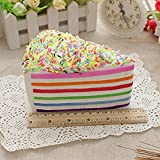 Vibola Super Slow Rising Squishy 20s Rainbow Cake Squishy New Styles Bread Squishy Charms 1pcs (Multicolor)