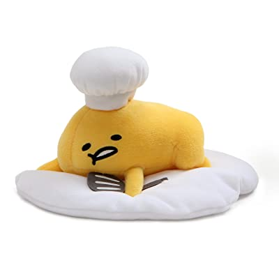 "GUND Gudetama ""Lazy Chef Egg with Hat and Spatula"" Stuffed Animal Plush, 7.5"": Gund: Toys & Games"