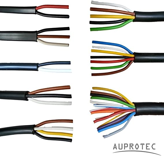 Auprotec Kfz Leitung 2 13 Polig Anhängerleitung Pkw Lkw Meterware Auswahl 2 Adrig 2 X 2 5 Mm Flachleitung Auto