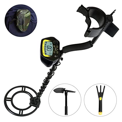 Amazon.com : MARNUR Metal Detector Waterproof Handheld LCD Display Metal Finder Treasures Seeking Tool with Battery Shovel Scoop for Easy Travel Kid and ...