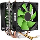 CPU冷却ファン Mugast 9cm 2100±5%RPM 両面ファンCPUクーラーヒートシンク 3ピン 高耐久 冷却ファン Intel LGA775/1156/1155 AMD AM2/AM2+/AM3対応 9×9×8.5cm