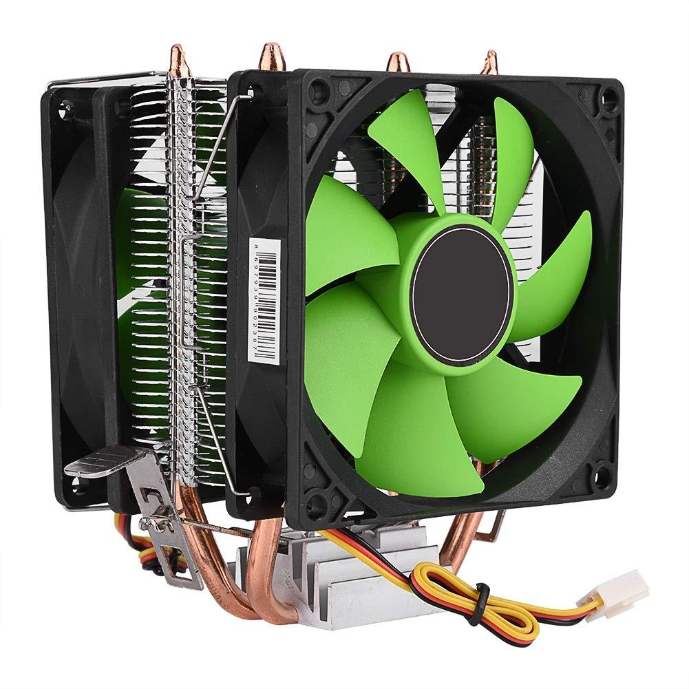 Alinory CPU Cooler Fan, 90mm 3Pin Dual-Sided Fan CPU Cooler Heatsink Quiet for Intels LGA775/1156/1155 AM2/AM2+/AM3