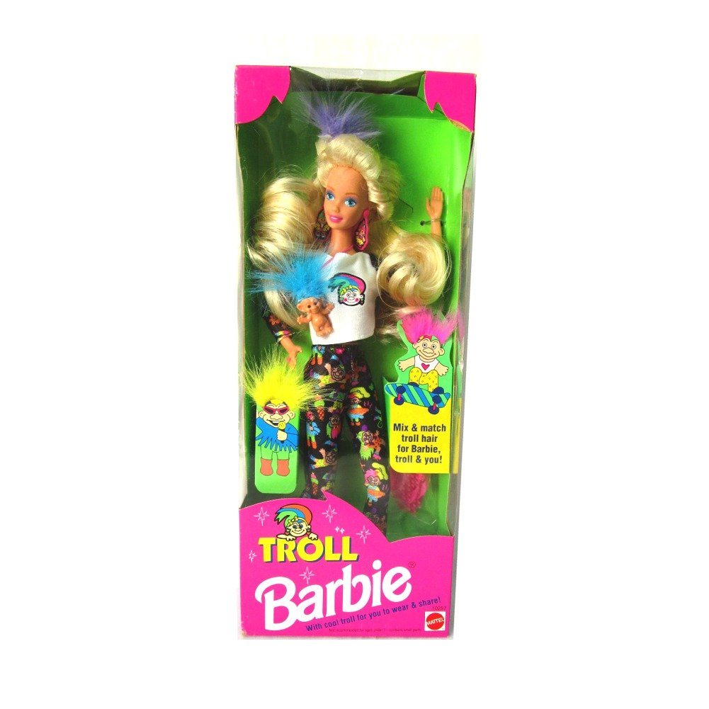 1992 Troll Barbie Doll with Mini Troll Doll