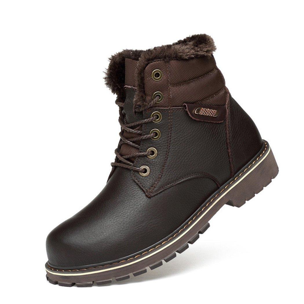 HHY-Cómodo y breathableAutumn e invierno botas del ejército americano y europeo botas de cuero Zapatos de algodón Rey código botas macho, marrón, 42 42|brown brown