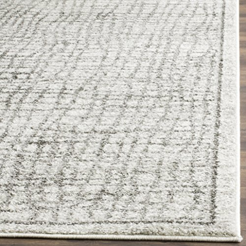 61a3kgoIbAL - Safavieh Adirondack Collection ADR103B Silver and Ivory Modern Distressed Area Rug (4' x 6')