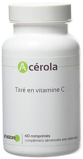 Anastore Comprimidos Acerola Ecológica Vitamina C Natural 170 mg - 60 Unidades: Amazon.es: Salud y cuidado personal