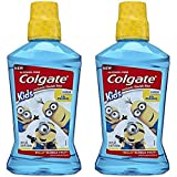 Colgate Kids Minions Bello Bubble Fruit Anticavity Fluoride Rinse, 16.9 Oz (Pack of 2)