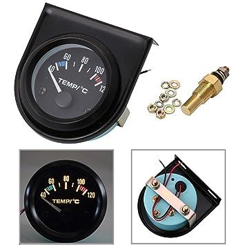haia7k4k Kit de medidor de temperatura de agua de 2 pulgadas, 52 mm, LED digital para coche de color negro de 40 a 120 °C: Amazon.es: Coche y moto