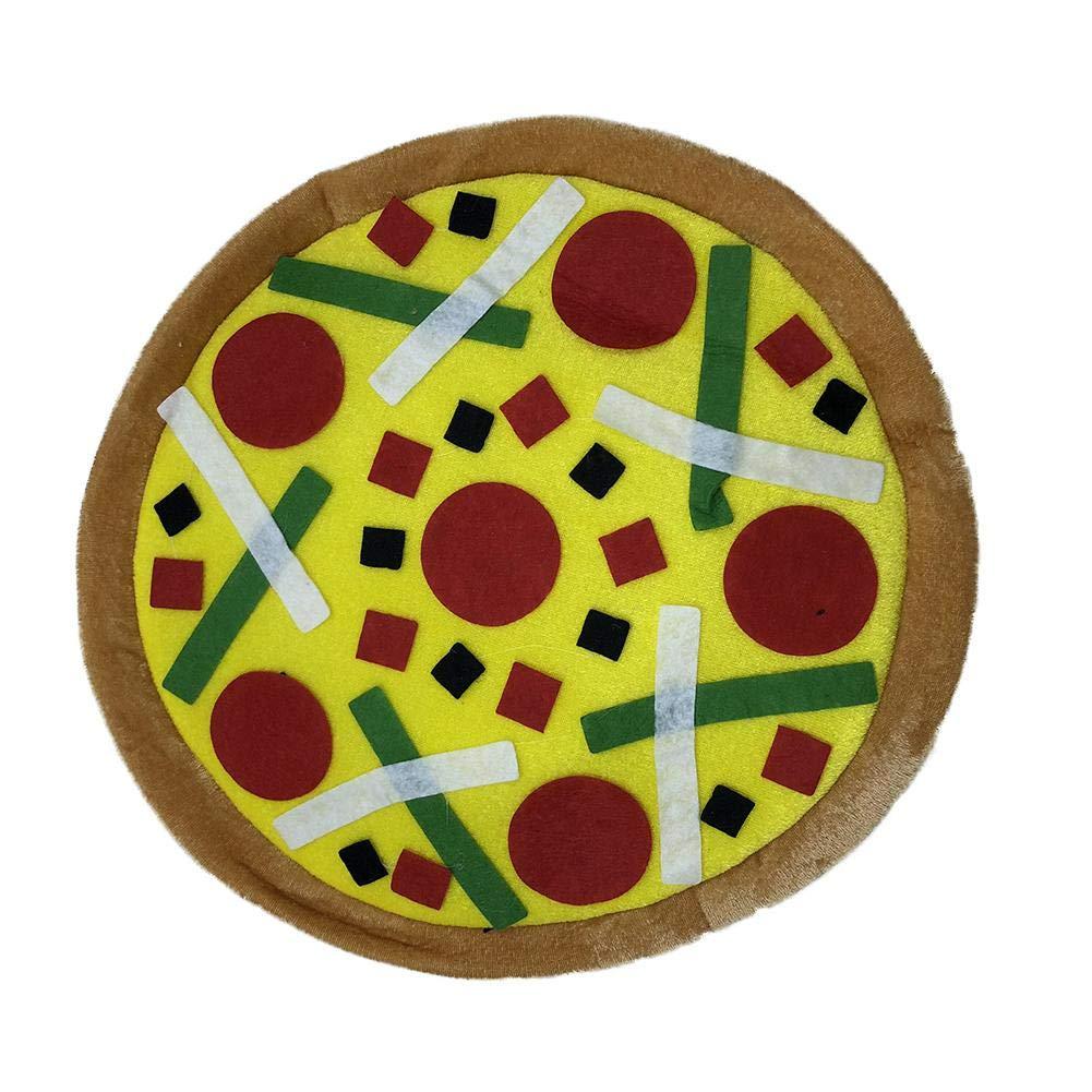para Vacaciones Creativo Pizza Sombrero Fiesta Festival Hombres Y Mujeres Halloween Escenario Prop Tama/ño Libre Forma Gorro De Tela Sombreros Tocado Accesorio De Vestuario