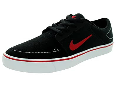 Nike SB Portmore Black White Gym Red Skate Shoes-Men 12.0 b9340f0c8e