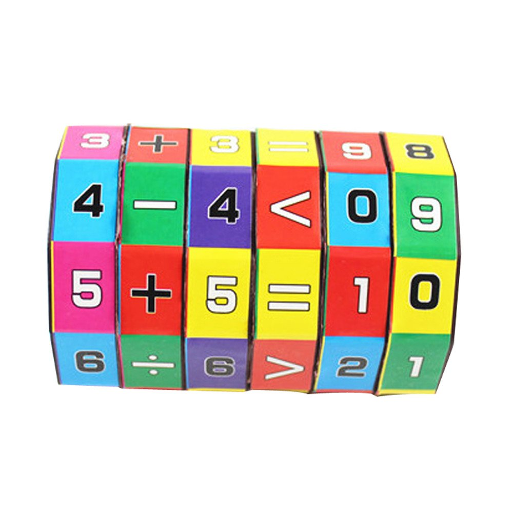 USHOT Puzzles Toys, Children Kids Mathematics Numbers Magic Cube Toy Puzzle Game Gift