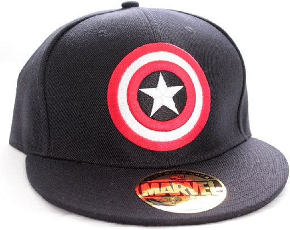 Marvel Comics – Gorra de béisbol – Logo del escudo del Capitán ...