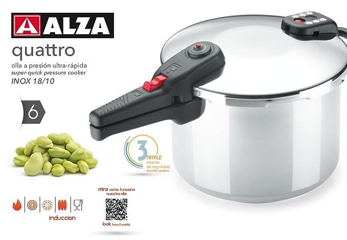 ALZA Quattro - Olla a presión súper-rápida (6 litros)