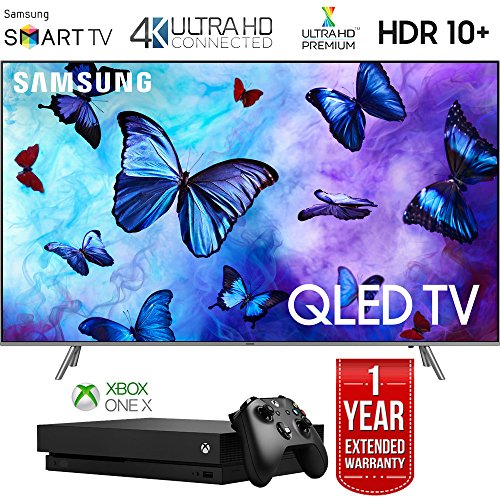 Samsung Q6FN Smart 4K Ultra HD QLED TV (2018) with 1 Year Extended Warranty (Super Bundle)