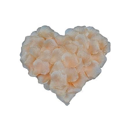 1000 Creme Künstliche Rosenblätter Rosenblüten Seide Romantischer Hochzeitsfeier Deko Valentinstag Blumenblätter