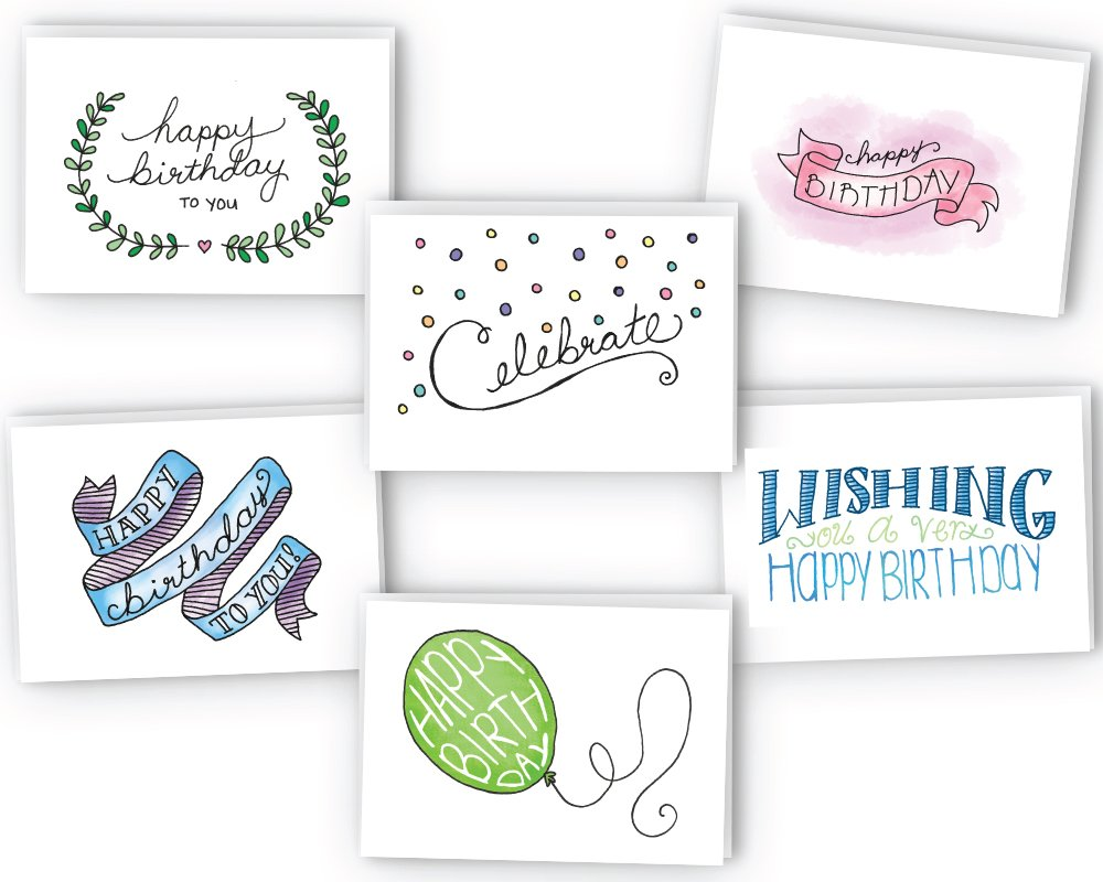 Amazon Com Happy Birthday Cards Variety Pack 24 Cards