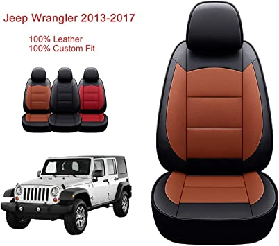 2013-2017 Jeep Wrangler Unlimited 4 Door Neoprene Seat Covers Set Black