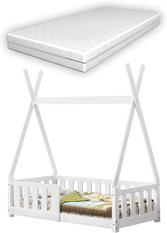 BESTFORKIDS LIT ENFANT avec MATELAS 7 designs et 8 dimensions différents