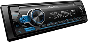 Pioneer MVH-S310BT Single Din Built-in Bluetooth, MIXTRAX, USB, Auxiliary, Pandora, Spotify, iPhone, Android and Smart Sync App Compatibility Car Digital Media Receiver