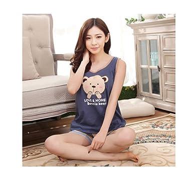 57b64431c New New Summer Women's Cotton Pajamas Sets Young Ladies Sleepwear Female Pajama  Sets Women Fashion Pyjamas