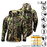 KwikSafety Camo Soft Shell Jacket | All Year Outdoor Recreational Wear | Water Resistant Windproof Long Sleeve Hood Zip Up | Hunting Fishing Shooting Camouflage Gear | 2XL