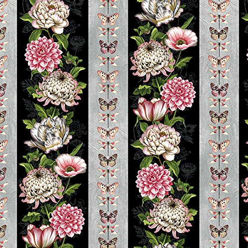 Stripe Repeating - Wilmington Prints Tivoli Garden by Anne Rowan Repeating Stripe Multi