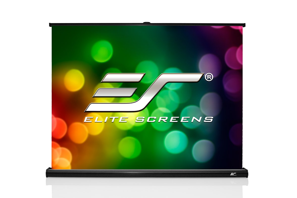 Elite Screens Projection Screen Pico Screen Series, 55-Inch 4:3, Light-Weight Portable Table-Top Pull-Up Projection Screen, Maxwhite 1.1 Gain Front Material (Ultra HD/4K), PC55W by Elite Screens