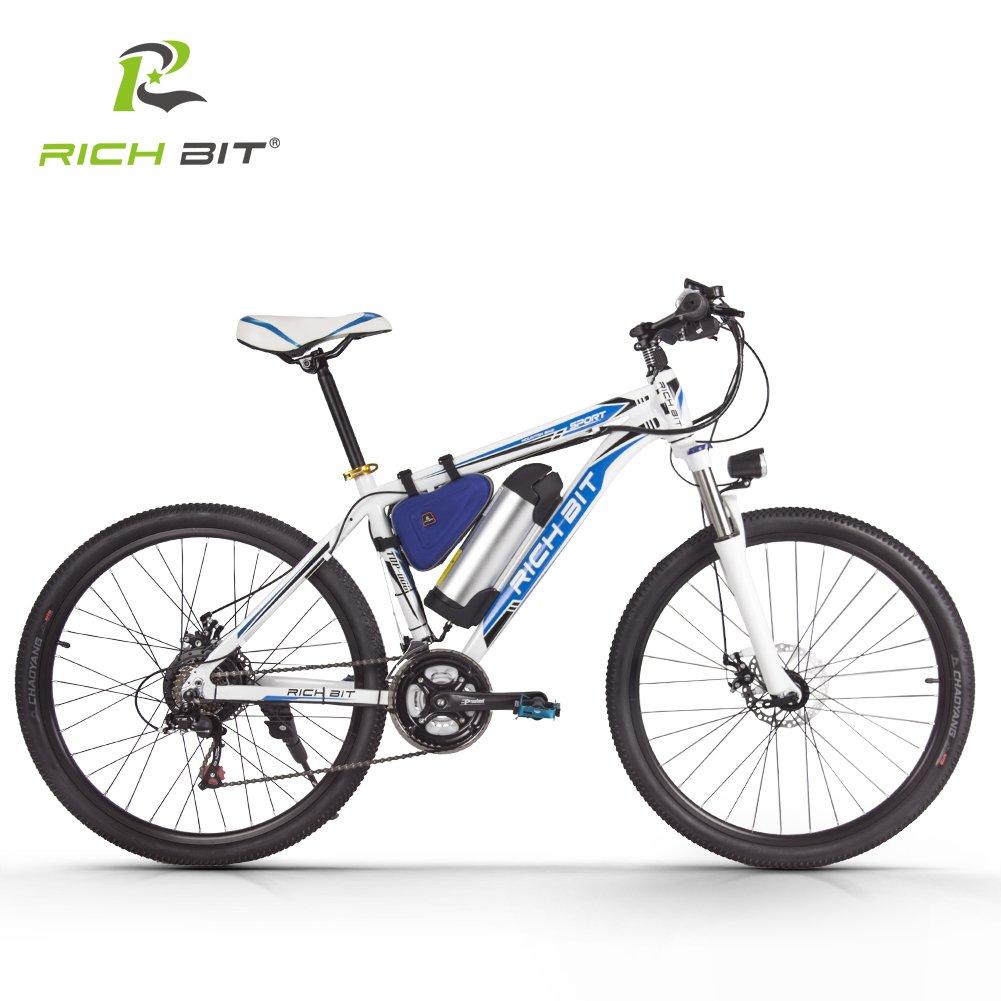 電動アシスト自転車 MTBマウンテンバイク シマノ社製21段変速搭載 軽量ダイヤモンドフレーム 軽量LGリチウムバッテリー B079BRXM4N ブルー ブルー