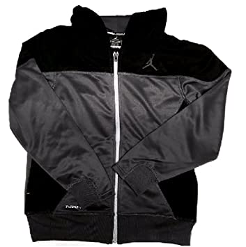 f1ad5c997a4096 Nike Boys AIR Jordan Therma Fit Full Zip Hooded Jacket Large Gray Black   Amazon.ca  Sports   Outdoors