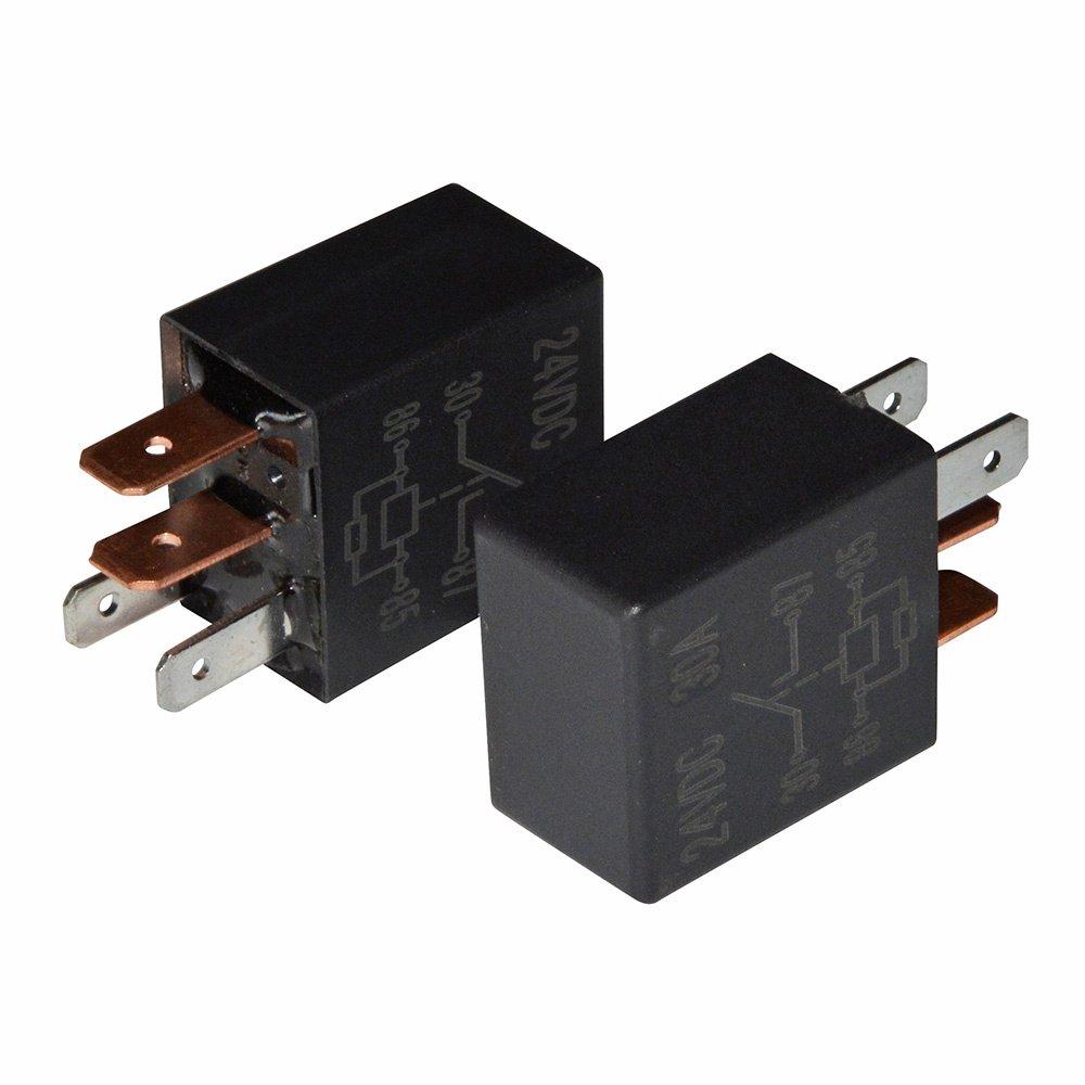 Ehdis/® Kit 30A SPST Multiusos rel/é Heavy Duty rel/é est/ándar de 4 Patillas 12 VDC Paquete de 2