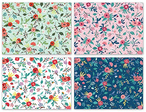 Blank Cards with Envelopes - 48 Floral Blank Note Cards with Envelopes - Assorted Cards for All Occasions! Blank Notecards and Envelopes Stationary Set for Personalized Greeting Cards