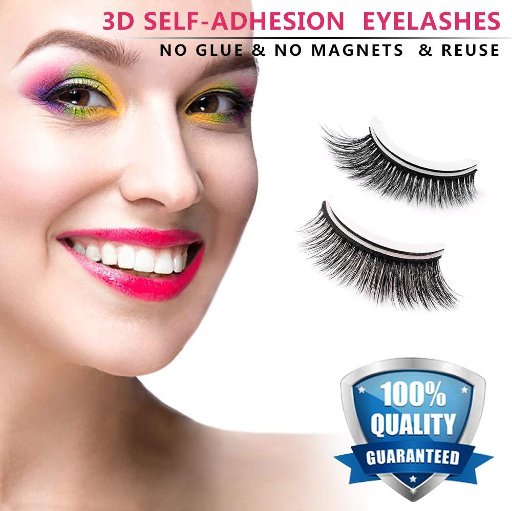 Amazon Fake Eyelashes 3d Self Adhesive False Eyelashes Natural