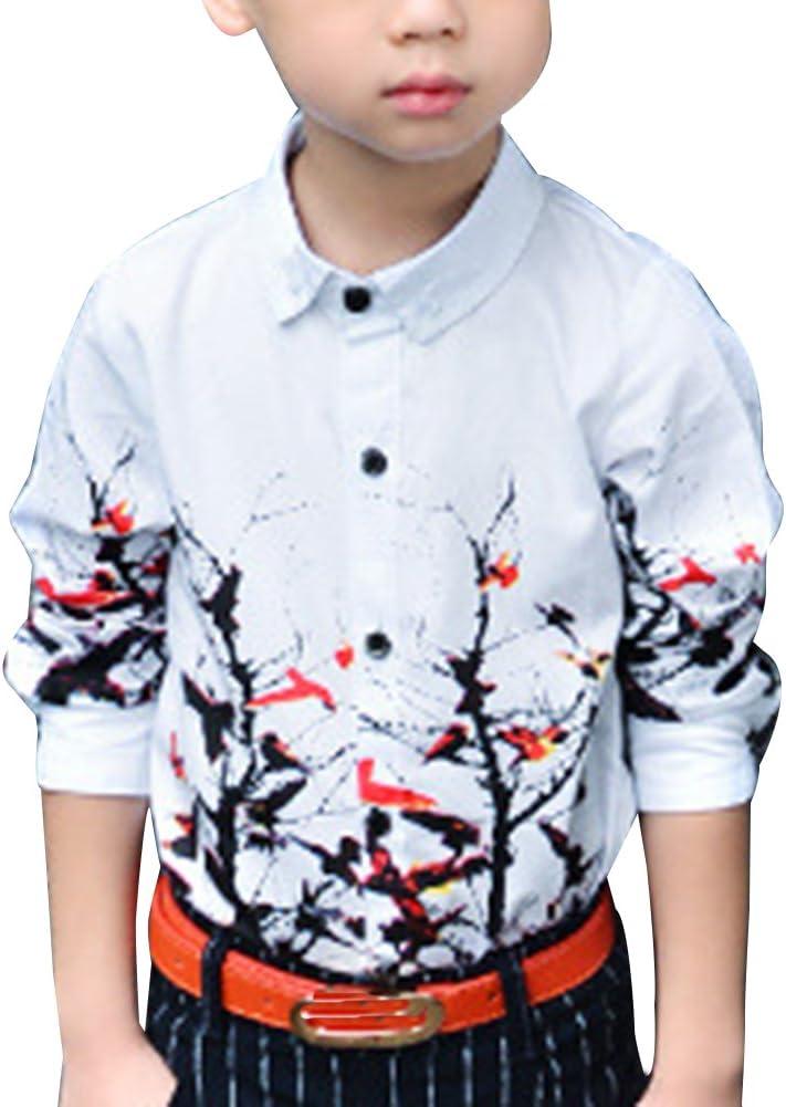 Niños Camisa Formal con Manga Larga Camisa Fiesta Floral Impreso Camisa: Amazon.es: Deportes y aire libre