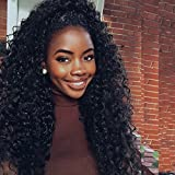 Doubleleafwig 2017 New Style T Part Lace Front Human Hair Wigs-Glueless 130% Density Brazilian Virgin Remy Wigs with Baby Hair For Black Woman Natural Color (18 Inch)
