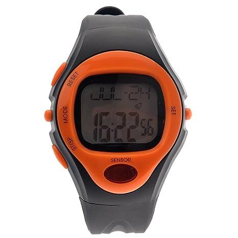 Pixnor 06221 impermeable Unisex pulso pulso Monitor calorías contador deportivo reloj Digital (naranja)