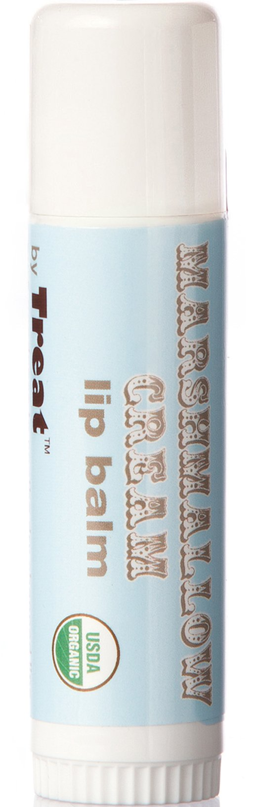 TREAT Jumbo Lip Balm - Marshmallow Cream, Organic & Cruelty Free (.50 OZ)