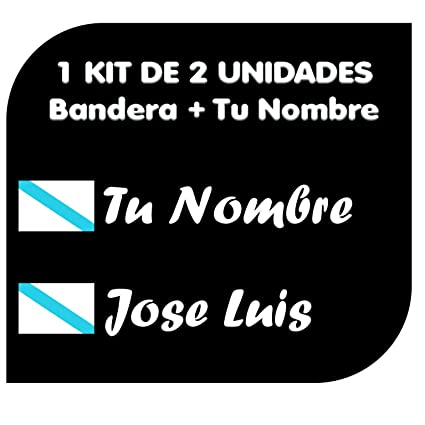 Pegatina Vinilo Bandera Galicia + tu Nombre - Bici, Casco ...