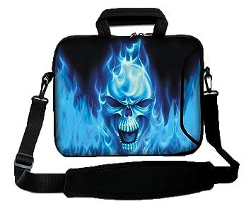 Luxburg: Bolso Bandolera para Ordenador portátil, 12 Pulgadas (250 x 300 mm), Flexible, con asa; Motivo: cráneo Azul: Amazon.es: Informática