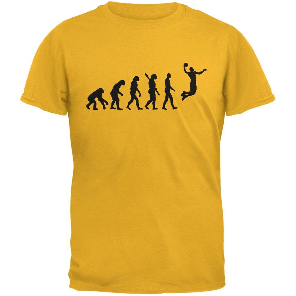Basketball Evolution Gold Adult T-Shirt Tees Plus