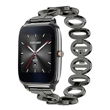 Diadia ZenWatch 2 lujosa correa de acero inoxidable para reloj de pulsera Wirst Metal Band para