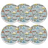 Zak Designs 6741-0310-ISET Adventurer 10-inch Plastic Dinner Plate, Tents & Trailers, 6-piece set