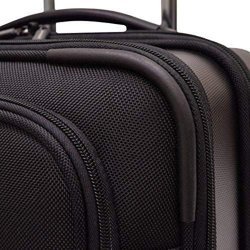 Traveler s Choice Sienna hardside softshell hybrid carry-on rolling garment  bag - Black (21 d37f38dce4592