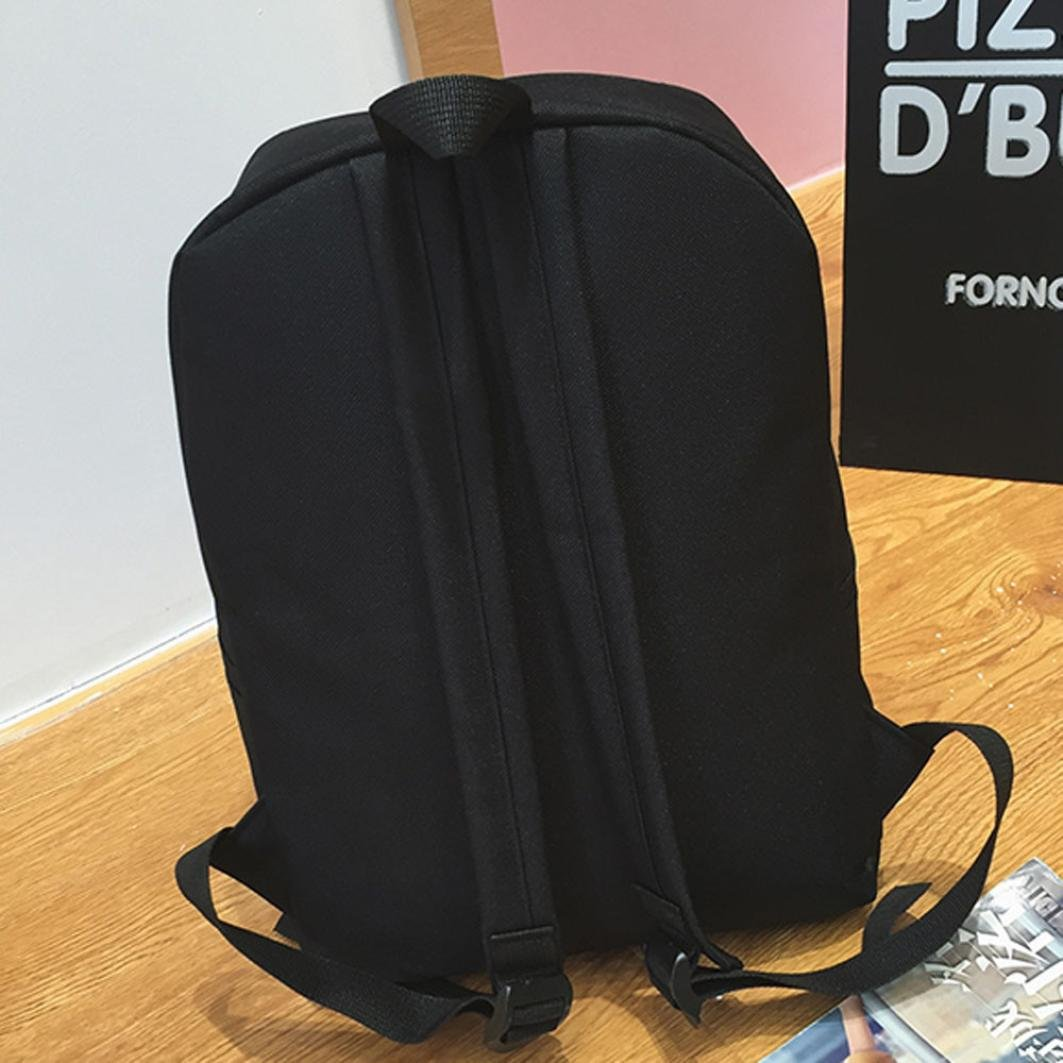 Travel Backpack ,Creazy Women Girl Fashion Love Print Preppy Style School Bag Travel Backpack Bag+Wallet (Black) by Creazydog (Image #7)