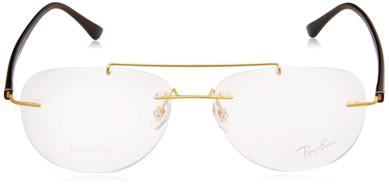 e5e381c11b Amazon.com  Eyeglasses Ray-Ban Optical RX 8749 1194 GOLD  Clothing