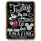 Mickey Mouse, ''Amazing Day'' Woven Tapestry Throw Blanket, 48'' x 60''